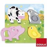 Puzzle animali fattoria tattile