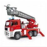 MAN dei pompieri con scala semovibile